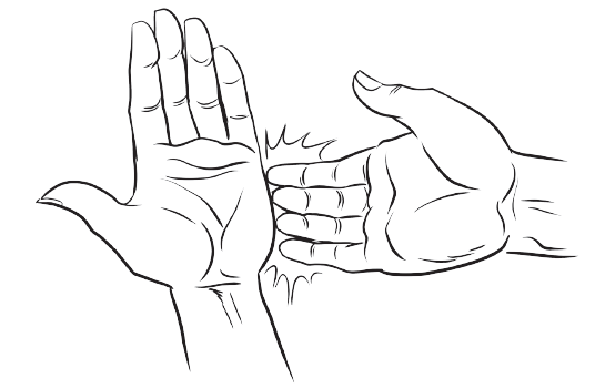 The karate point which you should tap on during both the basic and advanced EFT anxiety procedure