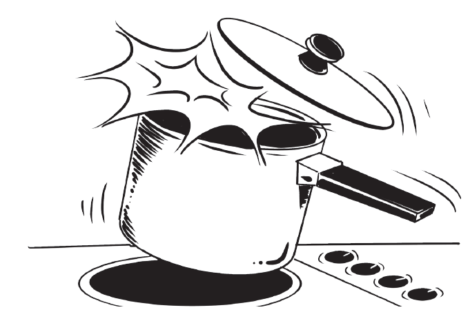 A panic disorder is like an improperly opened pressure cooker.